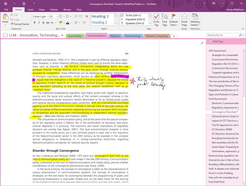 OneNote Highlights